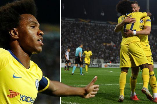 Europa League  Chelsea i falet Willian  Lazio fiton edhe pa Strakoshën