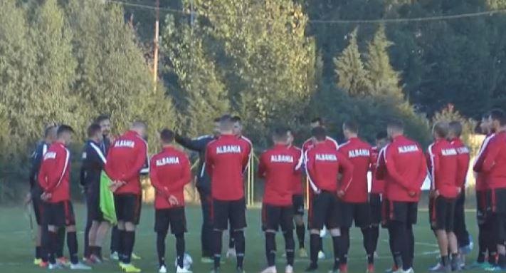 Kombëtarja shqiptare vijon përgatitjet për ndeshjen e Ligës së Kombeve me Skocinë