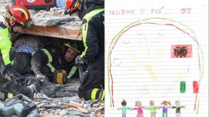 Letra që të përlot  vogëlushja italiane bën gjestin prekës  dhuron pesë euro për të prekurit në Shqipëri