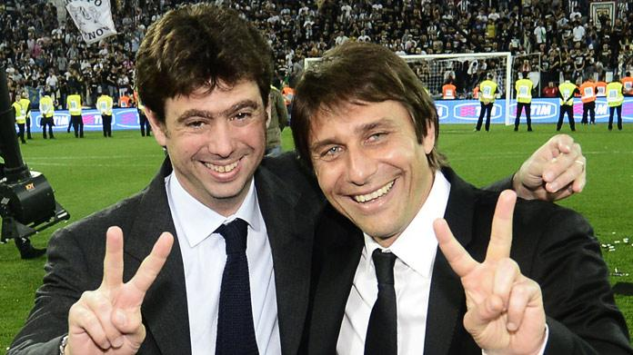 Agnelli thumbon Antonio Conte-n dhe i thur elozhe Allegrit ...